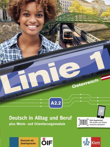 Cover Linie 1 Österreich A2.2 978-3-12-607150-5 Deutsch als Zweitsprache (DaZ)