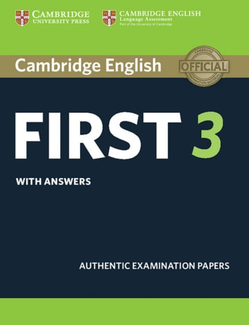Cover Cambridge English First 3 978-3-12-535212-4 Englisch