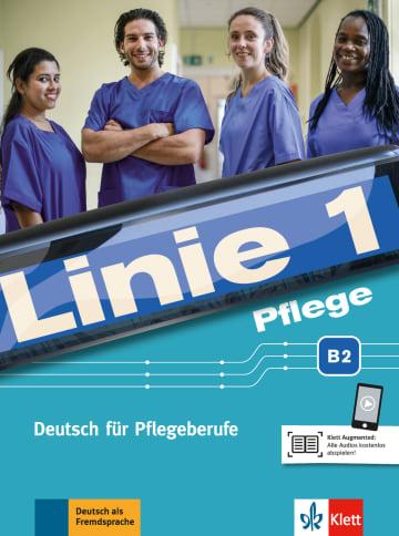 Cover Linie 1 Pflege B2 978-3-12-607183-3 Deutsch als Fremdsprache (DaF),Deutsch als Zweitsprache (DaZ)