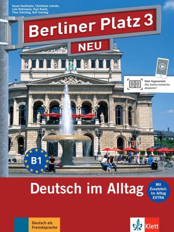 Cover Berliner Platz 3 NEU 978-3-12-606057-8 Deutsch als Fremdsprache (DaF)