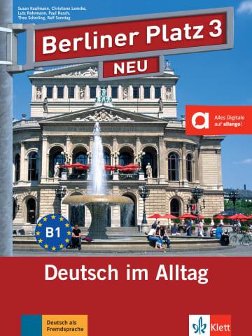 Cover Berliner Platz 3 NEU 978-3-12-606056-1 Deutsch als Fremdsprache (DaF)