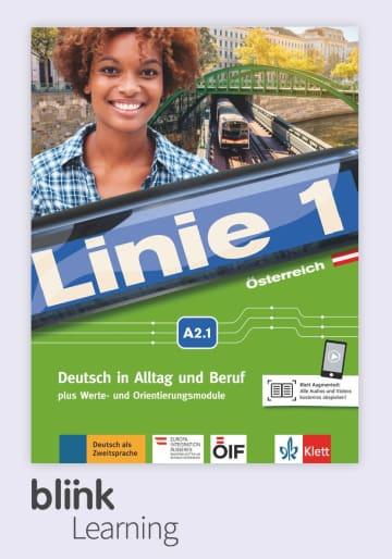 Cover Linie 1 Österreich A2.1 Digitale Ausgabe mit LMS NP00860714901 Deutsch als Zweitsprache (DaZ)