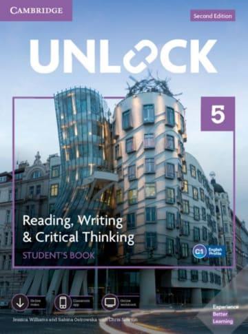 Cover Unlock Second edition, Level 5 (C1) Reading, Writing & Critical Thinking 978-3-12-540437-3 Englisch,Englisch für den Beruf
