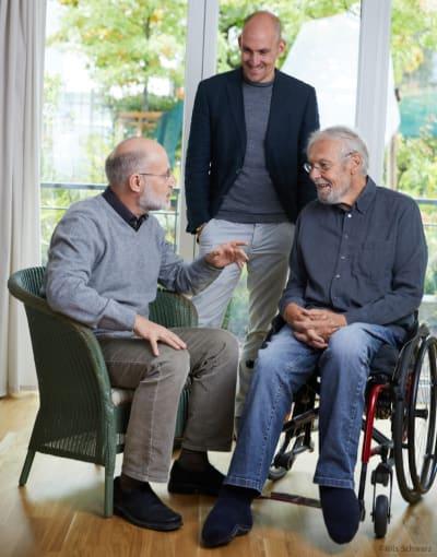Harald Lesch, Jonas Geißler und Karlheinz Geißler im Gespräch