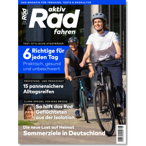 Cover: aktiv Radfahren 7-8/2020