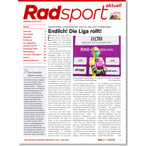 Cover: Radsport 15-16/2021