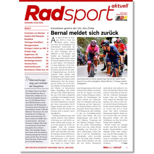 Cover: Radsport 17-18/2021