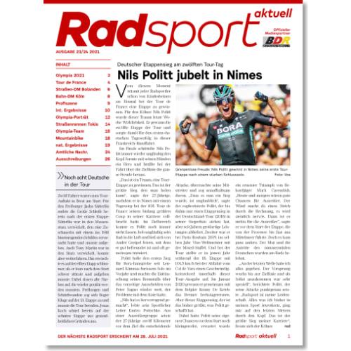 Cover: Radsport 23-24/2021