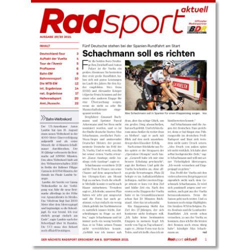 Cover: Radsport 29-30/2021