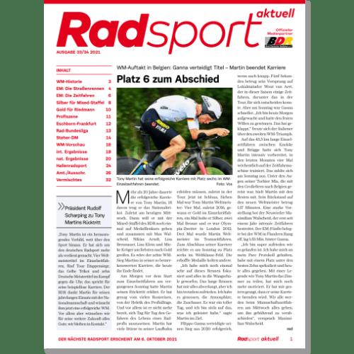 Cover: Radsport 33-34/2021