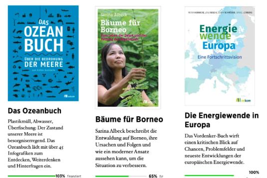 Bücher auf der crowd publishing Plattform