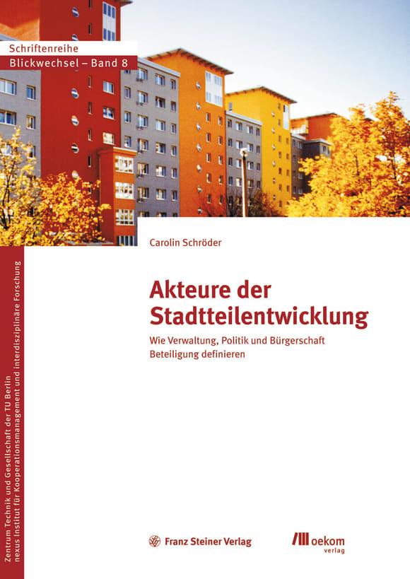 Cover: Akteure der Stadtteilentwicklung