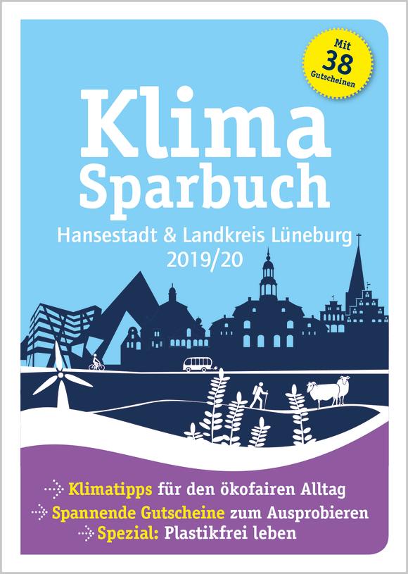 Cover: Klimasparbuch Hansestadt und Landkreis Lüneburg 2019/20