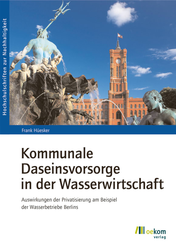Cover: Kommunale Daseinsvorsorge in der Wasserwirtschaft
