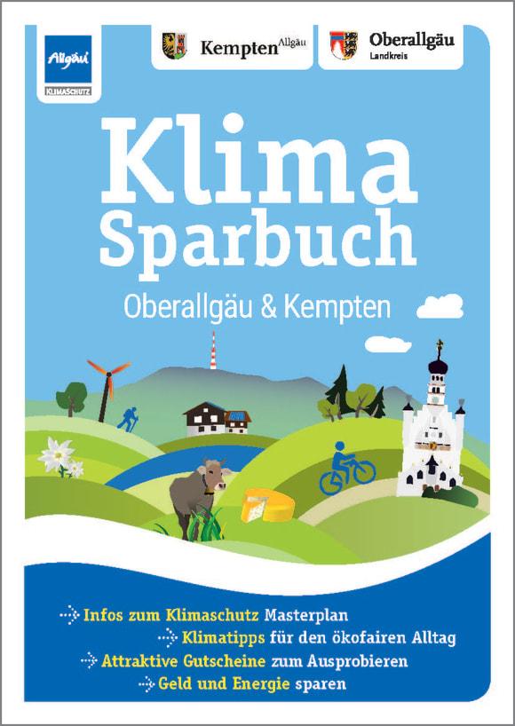 Cover: Klimasparbuch Oberallgäu und Kempten