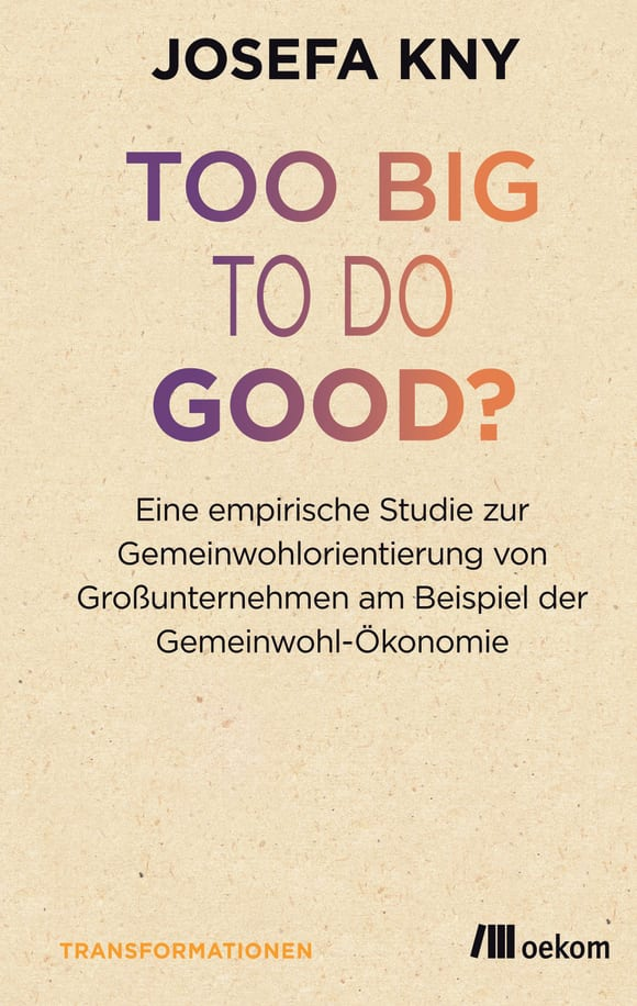 Cover: Too big to do good?