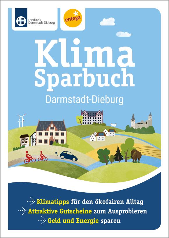 Cover: Klimasparbuch Landkreis Darmstadt-Dieburg