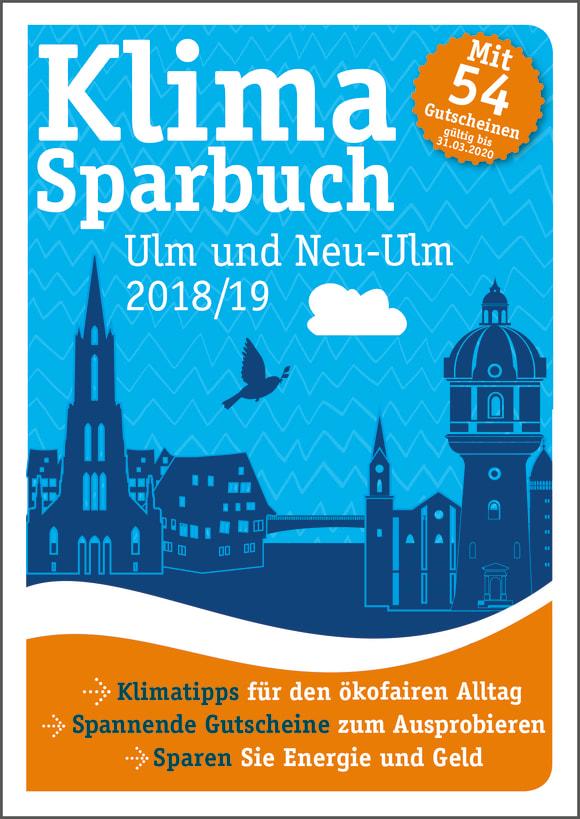 Cover: Klimasparbuch Ulm und Neu-Ulm 2018/19