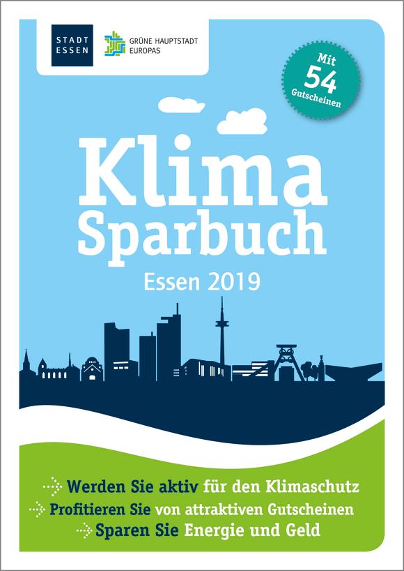 Cover: Klimasparbuch Essen 2019