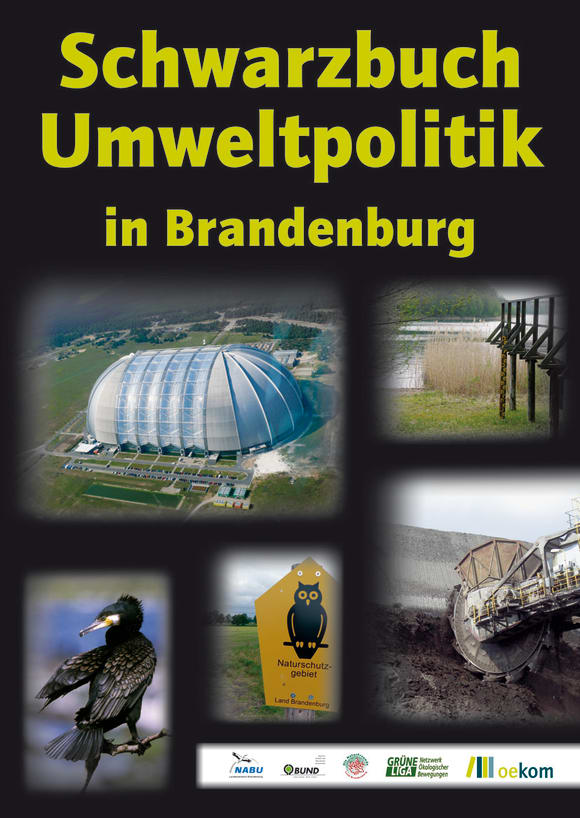 Cover: Schwarzbuch Umweltpolitik in Brandenburg