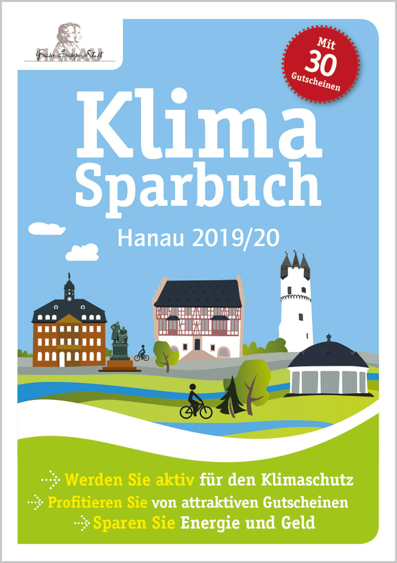 Cover: Klimasparbuch Hanau 2019/20
