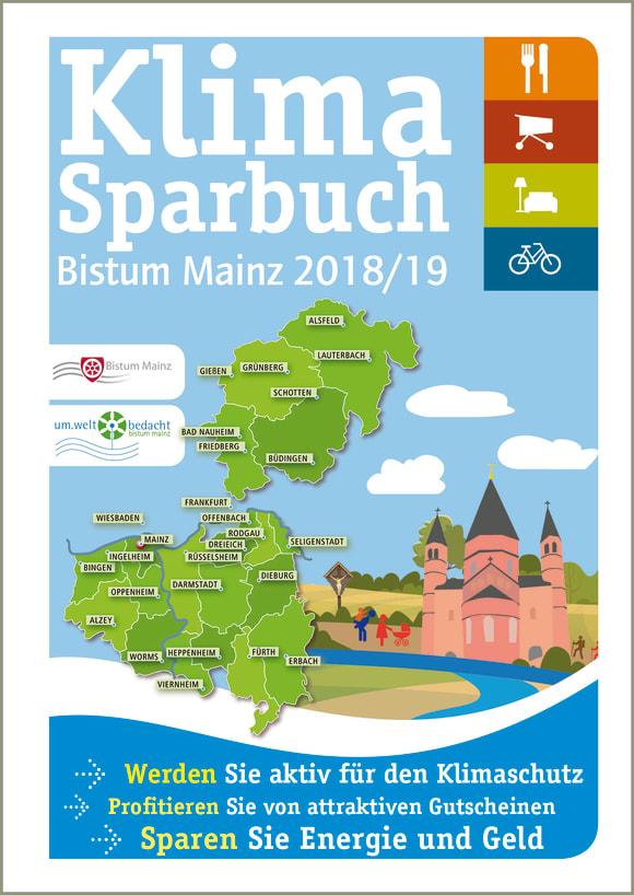 Cover: Klimasparbuch Bistum Mainz 2018/19