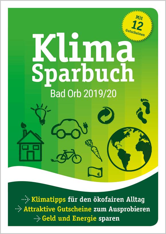 Cover: Klimasparbuch Bad Orb 2019/20