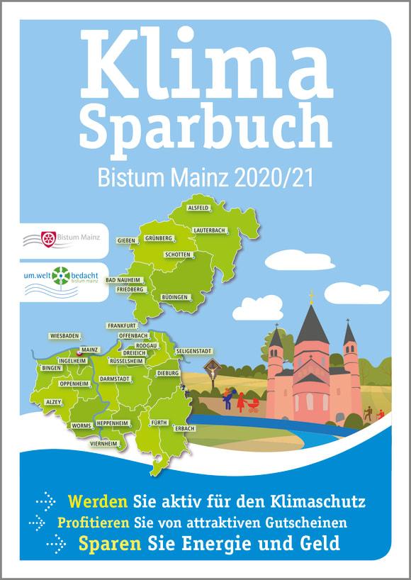 Cover: Klimasparbuch Bistum Mainz 2020/21