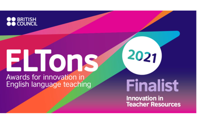 We´re on the ELTons shortlist 2021!