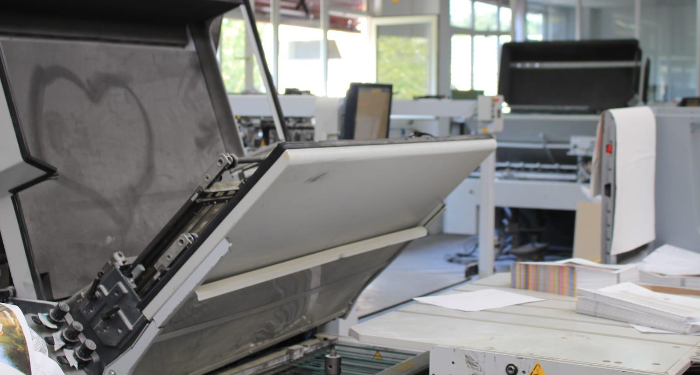 Druckmaschinen in einer Druckerei