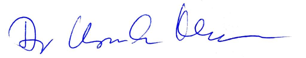 Unterschrift Dr. Ursula Hudson