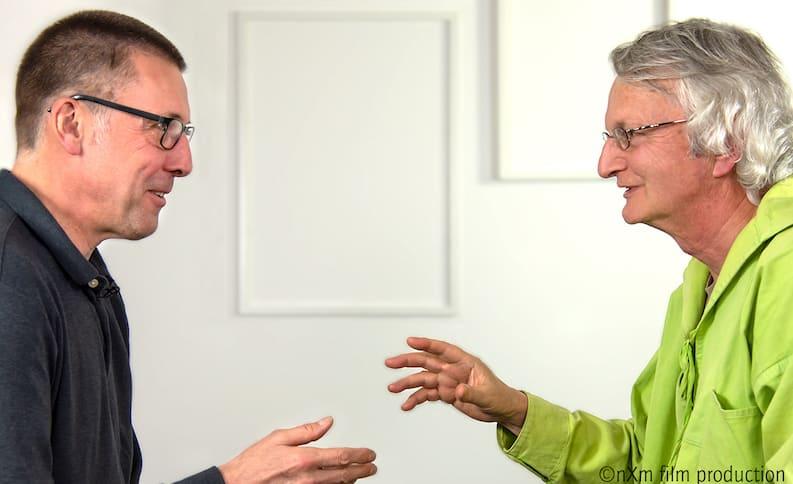 Niko Paech und Manfred Folkers im Gespräch