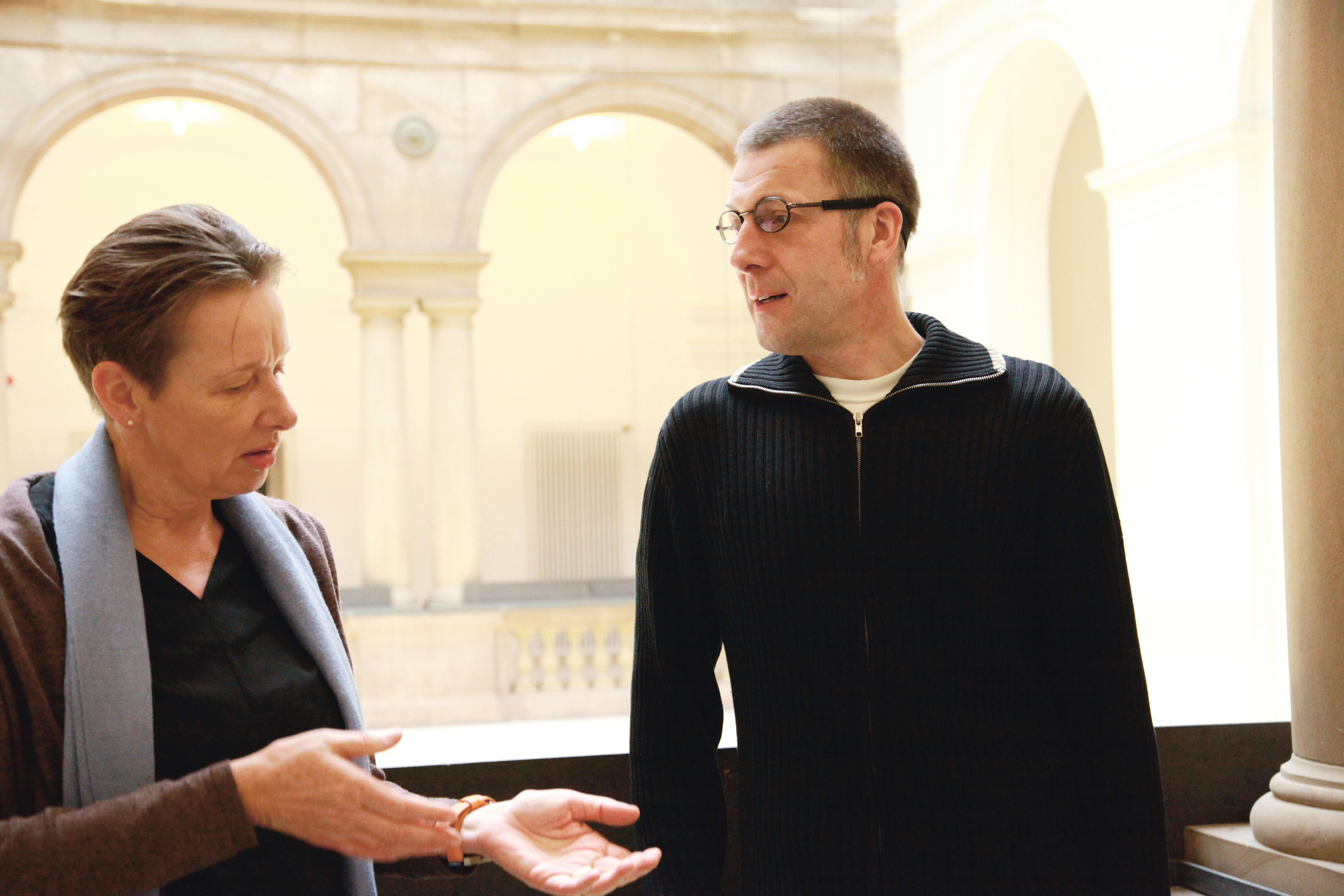 Ursula Hudson und Niko Paech im Gespräch