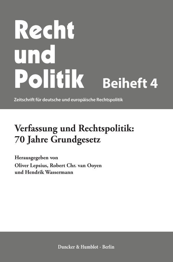 Recht und Politik. Beihefte (BH RUP)