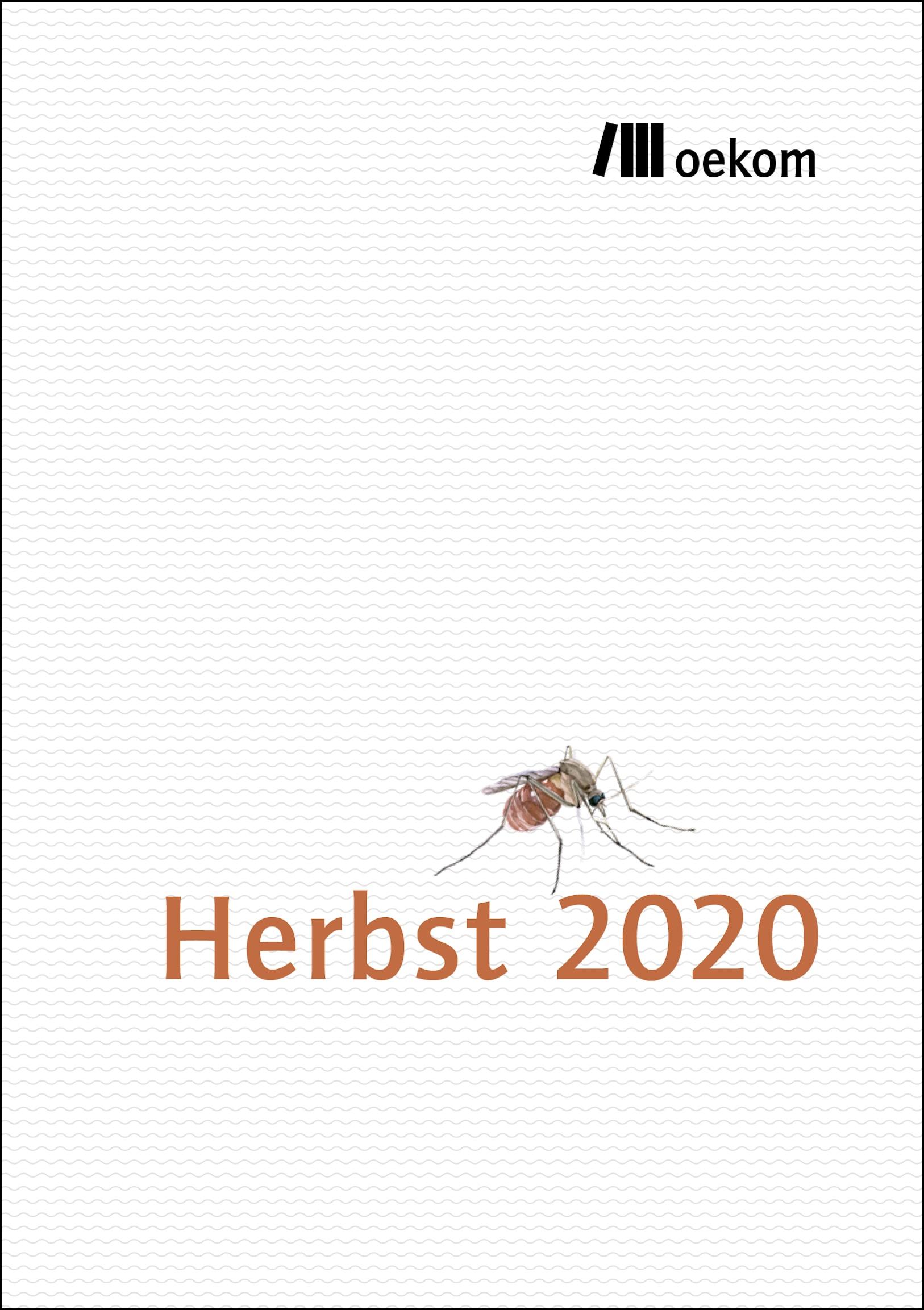 Programm oekom verlag Herbst 2020