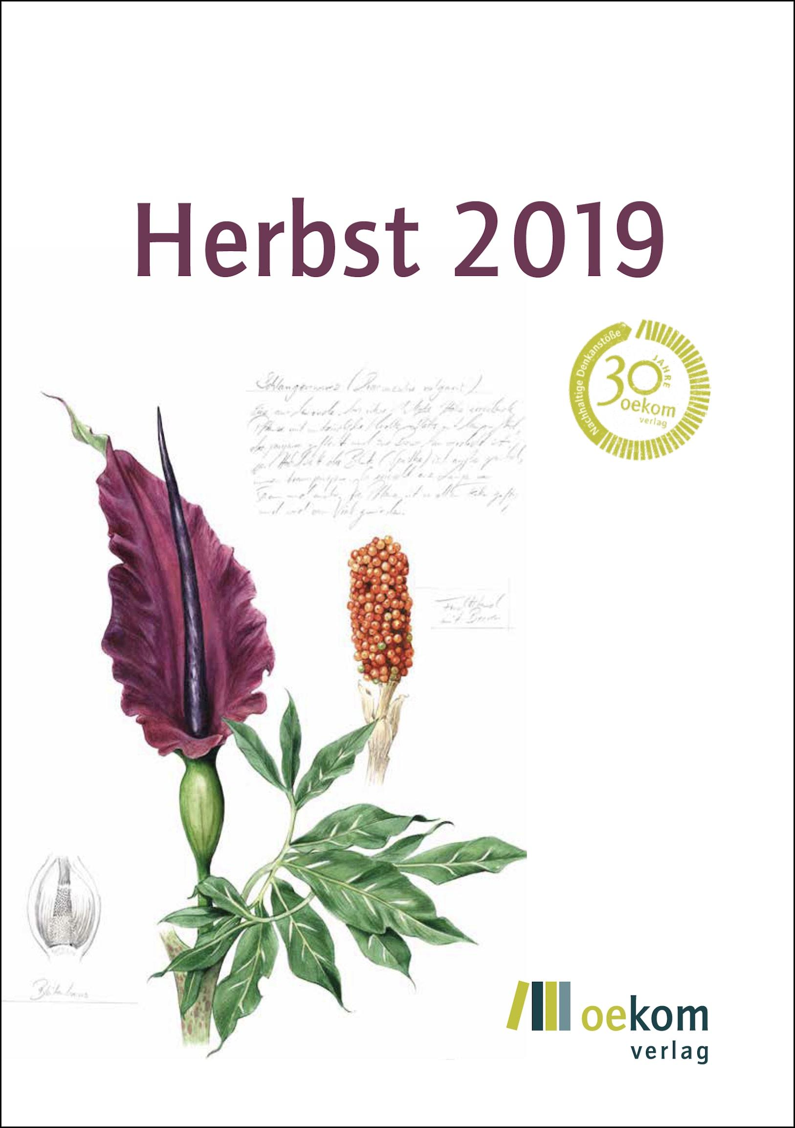 Programm oekom verlag Herbst 2019