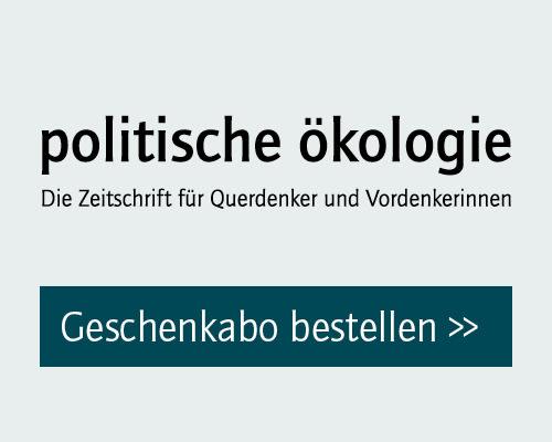 politische ökologie Geschenkabo bestellen