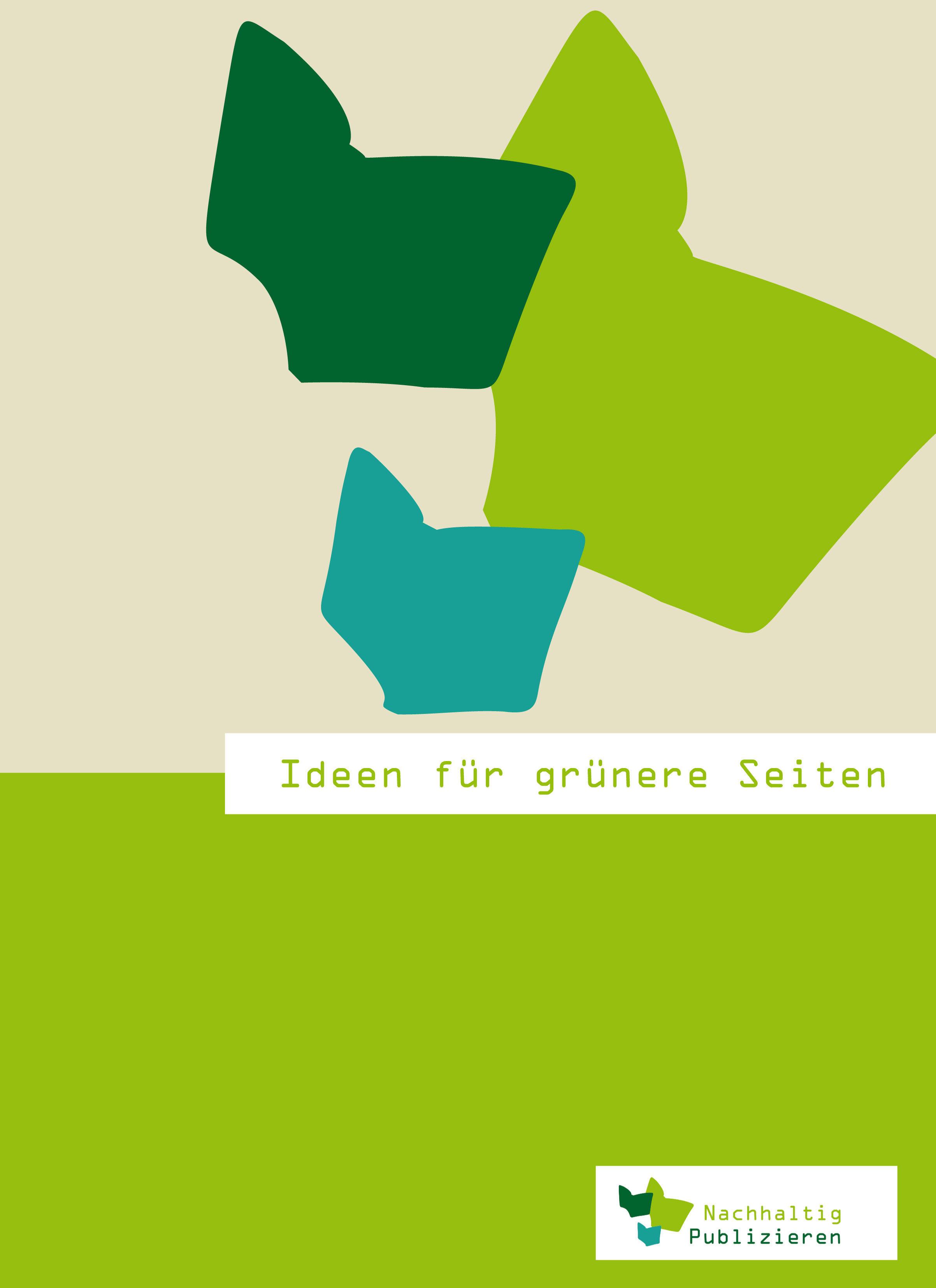Broschüre Ideen für grüne(re) Seiten