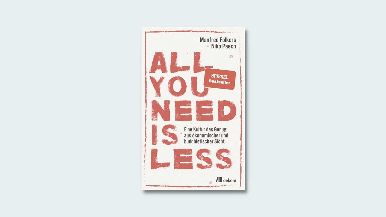 """Cover Paech/Folkers """"All you need is less"""""""