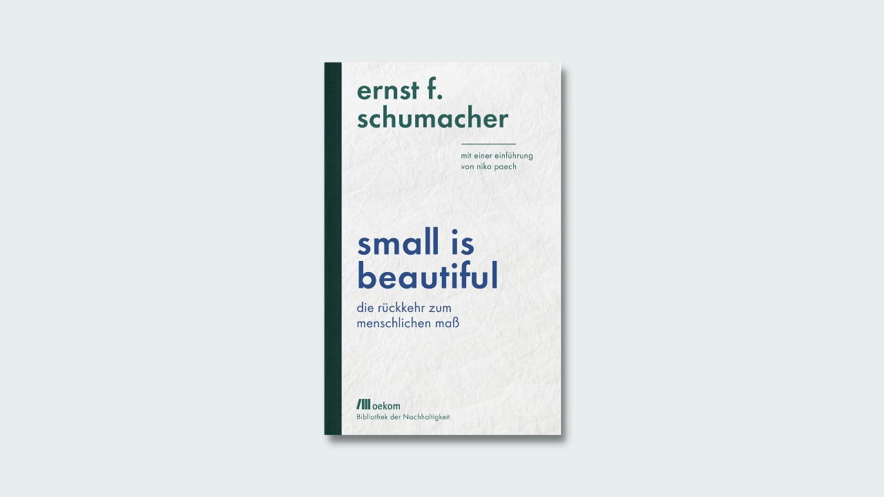 """Cover Ernst Schumacher """"Small is beautiful"""""""