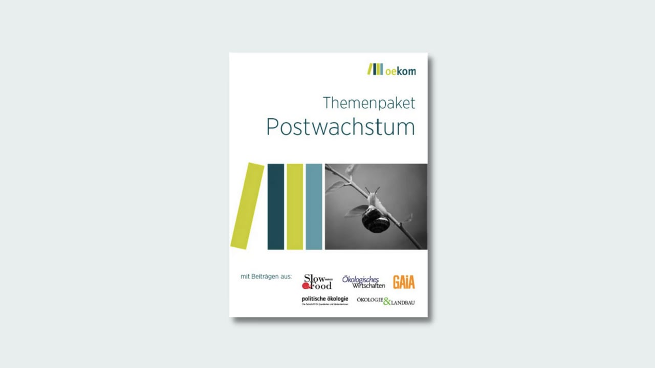 Themenpaket Postwachstum