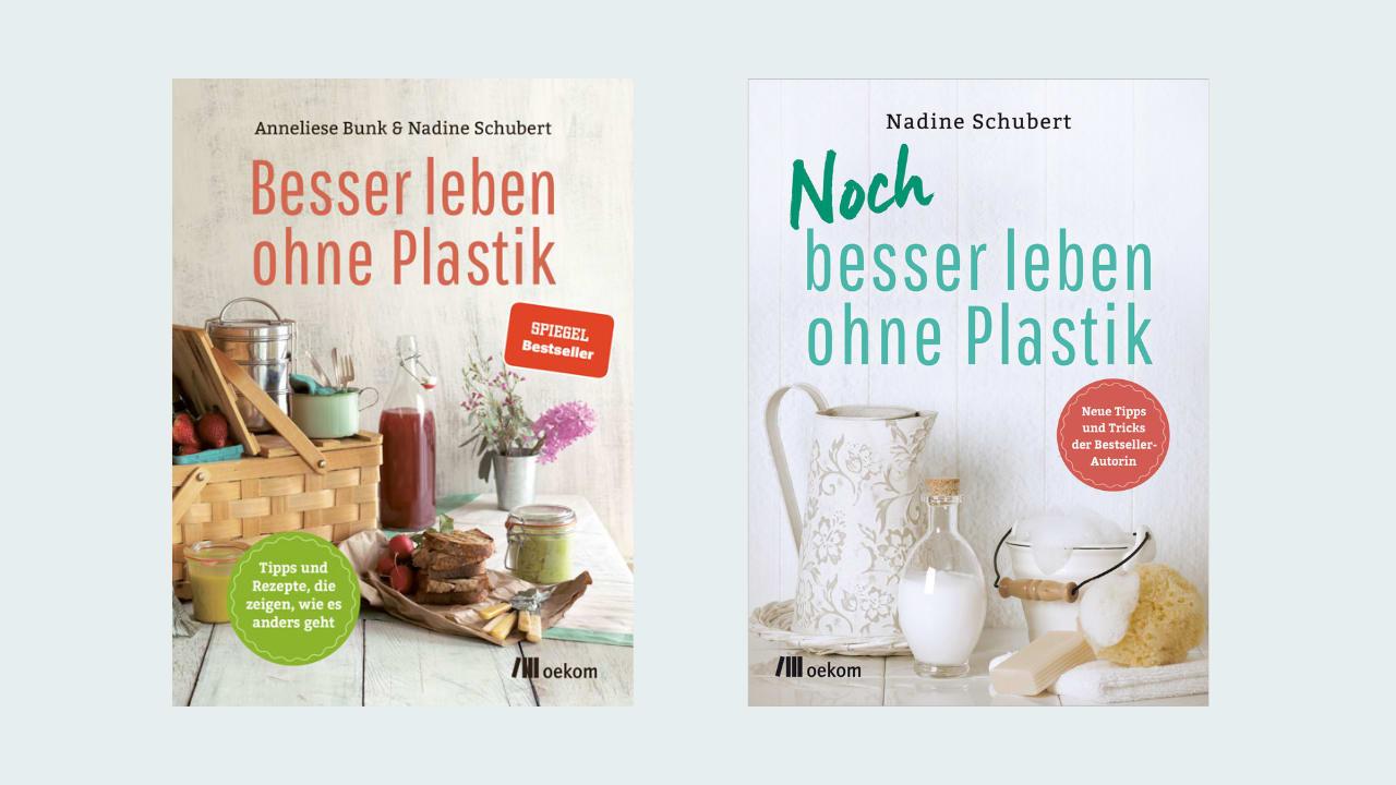 """Cover """"Besser Leben ohne Plastik"""" und """"Noch besser Leben ohne Plastik"""""""