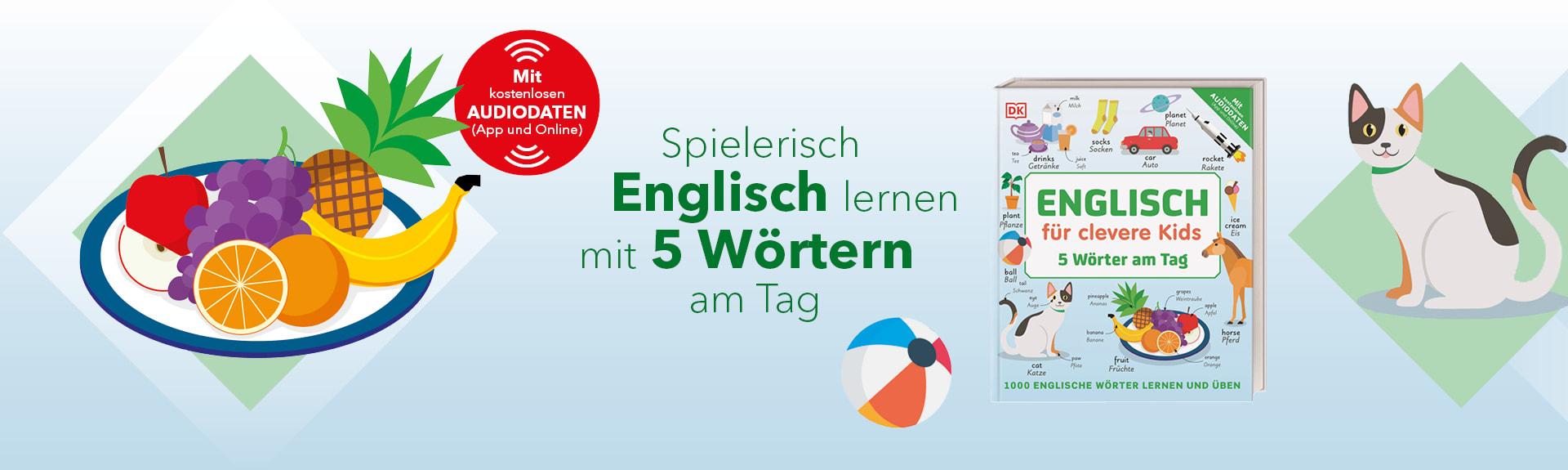 Englisch für clevere Kids 5 Wörter