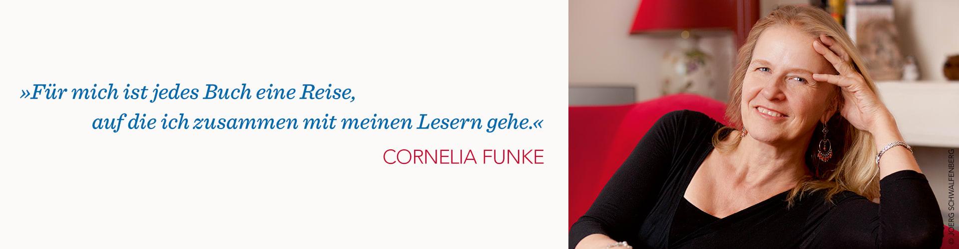 Cornelia Funke Portrait und Zitat