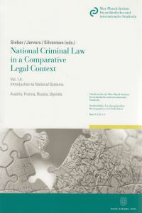 Cover National Criminal Law in a Comparative Legal Context