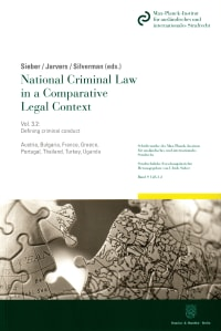 Cover National Criminal Law in a Comparative Legal Context. Vol. 3.2