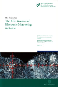 Cover The Effectiveness of Electronic Monitoring in Korea