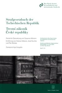 Cover Strafgesetzbuch der Tschechischen Republik / Trestní zákoník České republiky