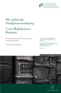 Cover Die türkische Strafprozessordnung / Ceza Muhakemesi Kanunu