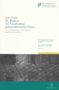 Cover Die Risiken der Verarbeitung personenbezogener Daten